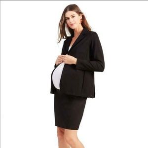 Ingrid & Isabel one button maternity blazer black